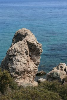 Free A Rock In Paphos Stock Images - 6293654