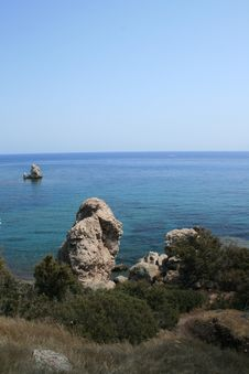 Free A Rock In Paphos Stock Photography - 6293672