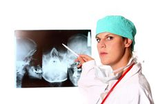 Free Female Doctor In Hospital Stock Photo - 6293860
