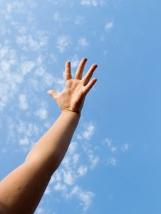 Free Highly I Will Stretch A Hand Royalty Free Stock Images - 6294409