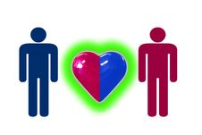 Couple With Heart Symbol Royalty Free Stock Image