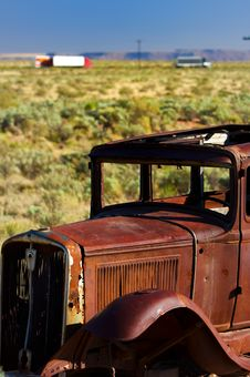 An Old Rusted Vintage Automobile Royalty Free Stock Photography