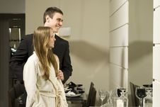 Free Couple Smiling In Mirror Royalty Free Stock Photos - 6295248
