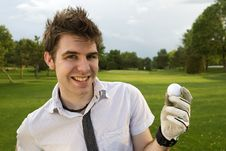 Free Young Man Excited About Golf Stock Photos - 6295643