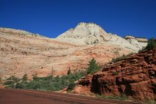 Free Zion Mt Carmel Highway Royalty Free Stock Photos - 6295658