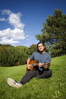Free Musician In Park Stock Photography - 6295992