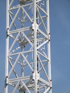 White Construction Crane Frame Stock Photography