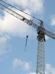 White Construction Crane Stock Image
