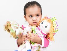 Free Asian Girl With Dolls Stock Image - 6297341