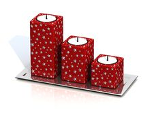 Free Christmas Red Candle Stock Photos - 6298143