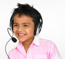 Free Boy Wearing Head Phones Royalty Free Stock Photography - 6298257