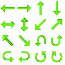 Free Green Arrows Set Stock Photos - 6298773