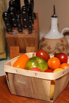 Free Tomatoes In Basket Stock Photo - 6299240