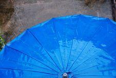 Free Blue Rain Umbrella Stock Photo - 6299490