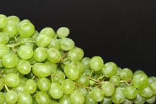 Free Grapes On Black Stock Photos - 6299673