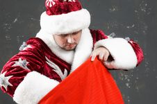 Free Santa Claus With Bag Royalty Free Stock Photography - 6299717