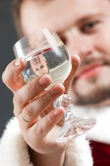 Free Santa Drinking Stock Photo - 6299720