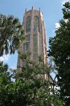 Bok Tower Thru Trees Stock Photo