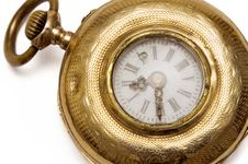 Micro Pocket Watch (Top View) Stock Images