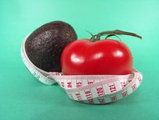 Free Measuring Avocado Tomato Royalty Free Stock Photo - 631925