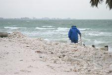 Dedicated Beachcomber Stock Images