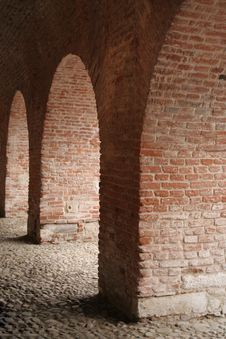 Free Three Brick Arches Stock Photo - 632630
