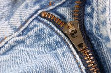 Free Zipper On Jeans Royalty Free Stock Photos - 632708