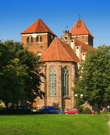 Red Brick Church Royalty Free Stock Photos