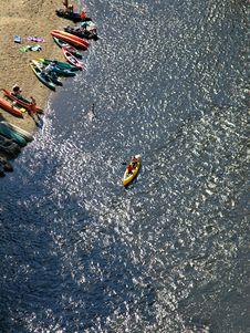 Free Cesky Krumlov River Boating Stock Photos - 633413