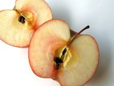 Free Apple In Halves Royalty Free Stock Image - 634106