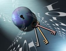 Free Keys To Binary Globe Royalty Free Stock Images - 634249