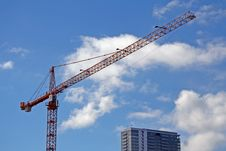Free Construction Crane Royalty Free Stock Photography - 636097