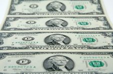 Free Sheet Of Two-dollar Bills Stock Images - 636104