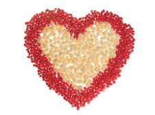 Red And White Candy Heart Royalty Free Stock Photos