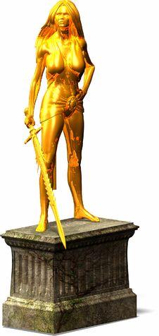 Free Female Warrior Statue Stock Image - 636361