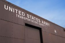 Free Old US Army Railcar Stock Photography - 637062