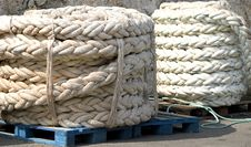 Mooring Ropes Royalty Free Stock Photo