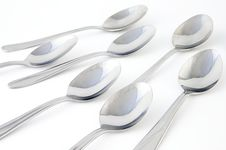 Free Spoons Closeup Royalty Free Stock Images - 637609