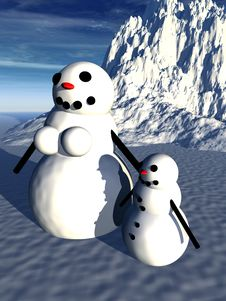 Snowman  24 Royalty Free Stock Image