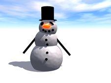 Free Snowman Royalty Free Stock Photo - 638095
