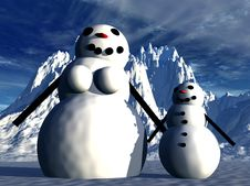 Free Snowman  20 Royalty Free Stock Photos - 638098