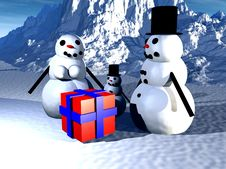 Free Snowman  26 Royalty Free Stock Images - 638099