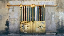Old Locked Door Stock Image