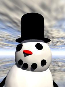 Free Snowman 7 Royalty Free Stock Image - 638196