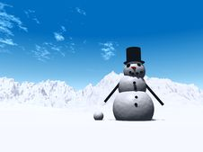 Free Snowman  9 Royalty Free Stock Photography - 638197