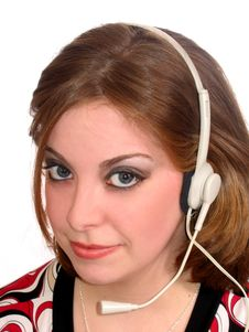 Free Woman Headset Stock Photos - 638383
