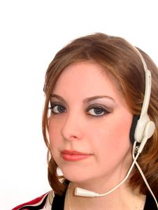 Free Woman Headset Stock Images - 638384