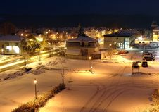 Free Central Square On A Winter Night Royalty Free Stock Photo - 638725