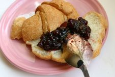 Free Croissants With Jam Stock Images - 639664