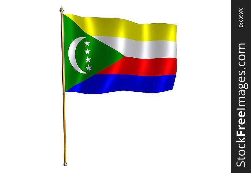 Comoros silk flag
